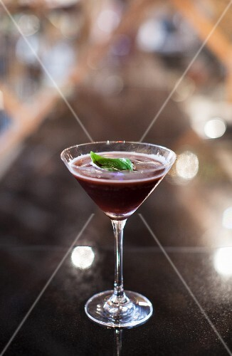 A blackcurrant cocktail
