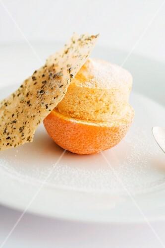 Pumpkin and orange parfait