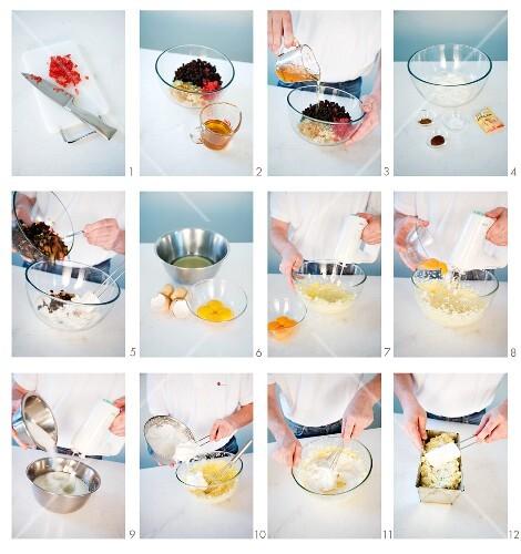 English fruitcake being made