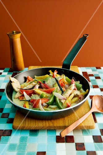 Stir-fried peppers
