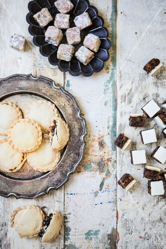 Mince pies and Christmas cake squares