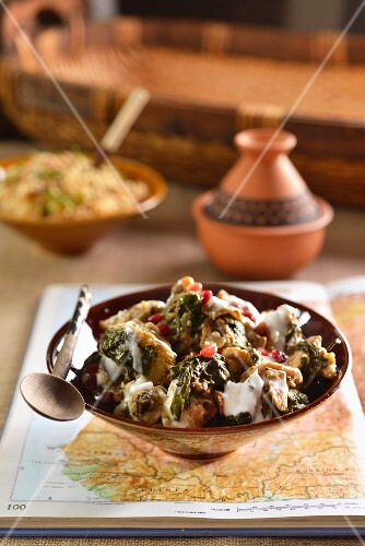 North African yoghurt chicken