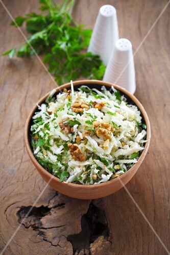 Waldorf salad with walnuts
