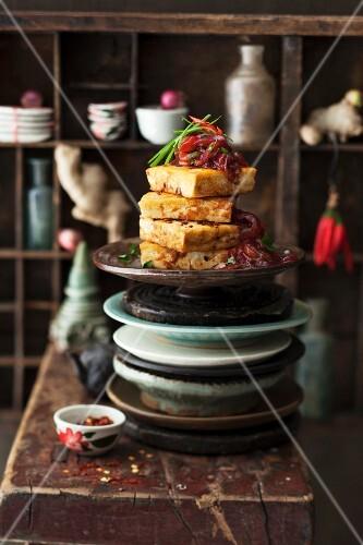 Spicy tofu, sliced (Thailand)