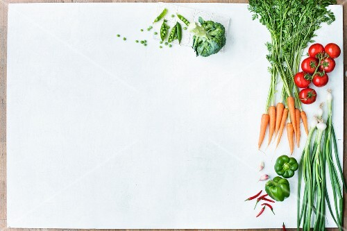 Various types of vegetables (seen from above)