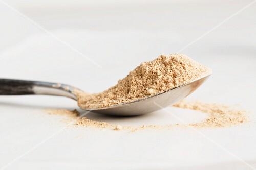 A spoonful of maca powder