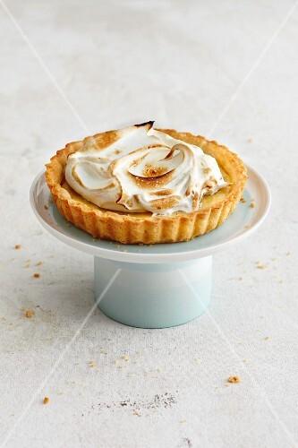 A mini Key Lime Pie with meringue