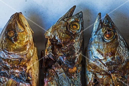 Three grilled fish (Thailand)