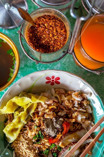 Hokkien-style noodles and spices (Phuket, Thailand)