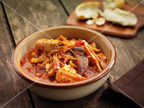 Rustic bouillabaisse