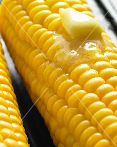 Corn-on-the-cob with butter