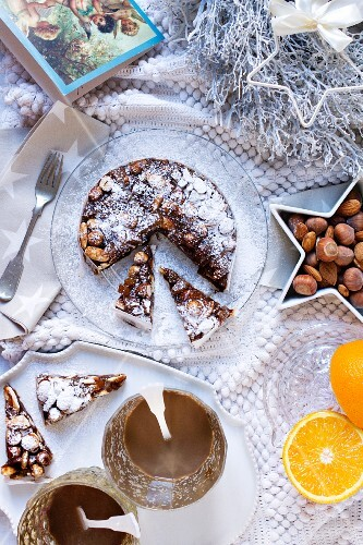 Panforte (cake made from dried fruit and nuts, Italy)