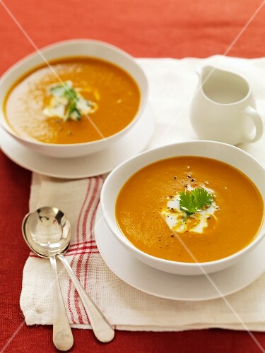 Pumpkin soup with yellow curry