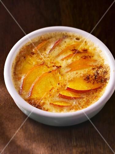 Peach crème brûlée