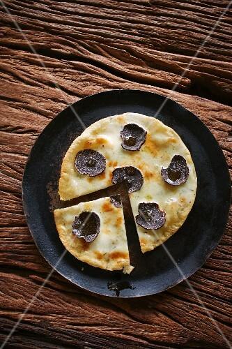 A truffle pizza