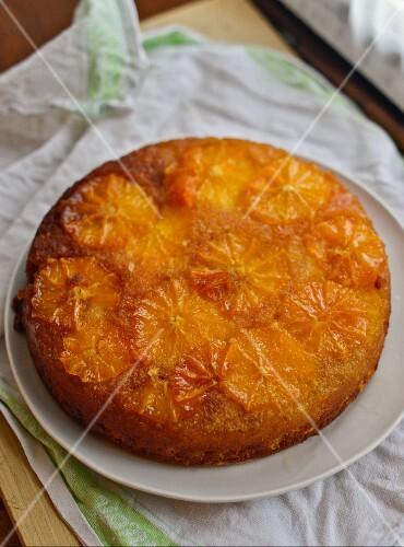 Caramelised orange cake