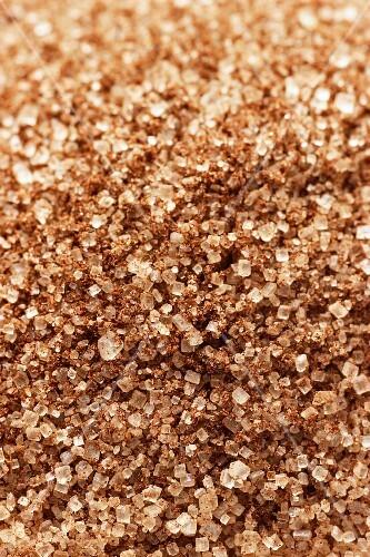 Brown vanilla sugar, close-up