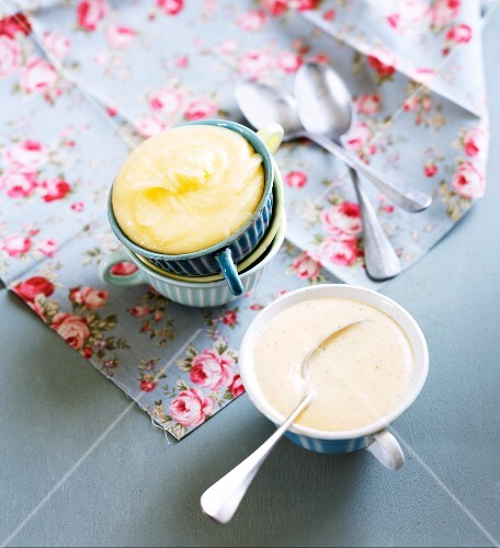 Custard and brand butter