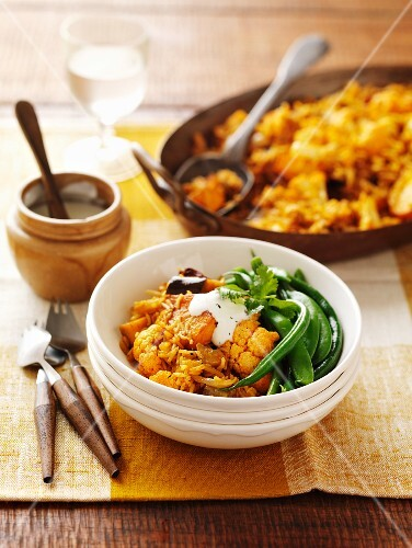Biryani rice with vegetables (India)