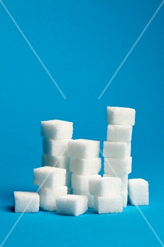 A stack of sugar cubes