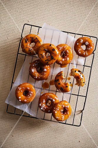 Salted caramel doughnuts with beer