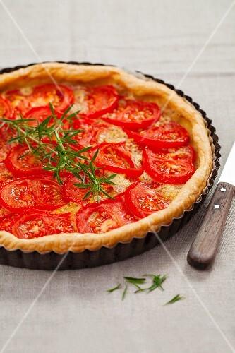 Tomato tart with rosemary