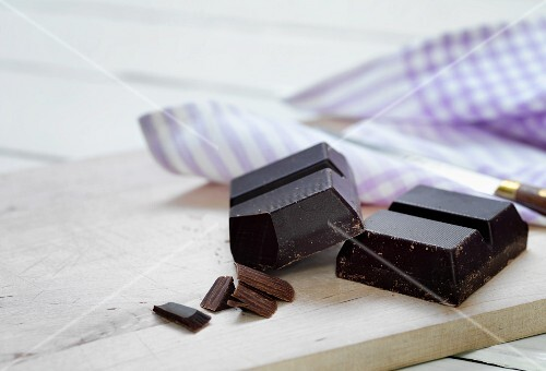 Pieces of cooking chocolate