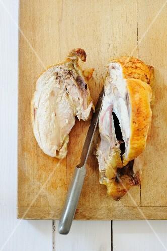 A halved chicken breast
