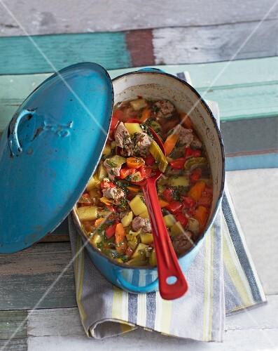 Lamb stew with basil gremolata