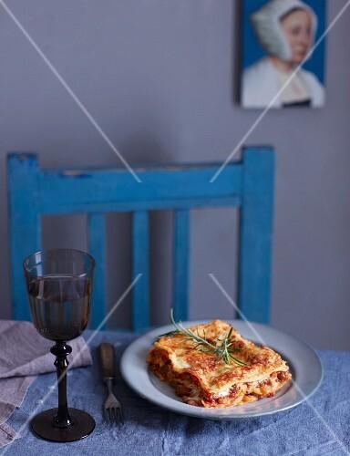A slice of lasagne