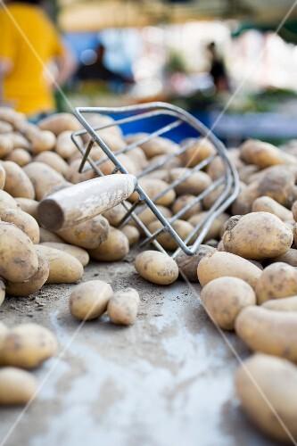Potatoes at a market