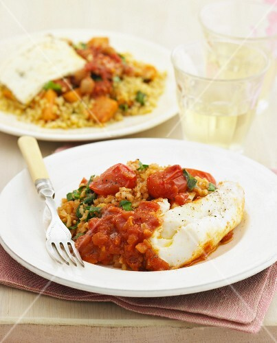 Rice with haloumi and rice with cod