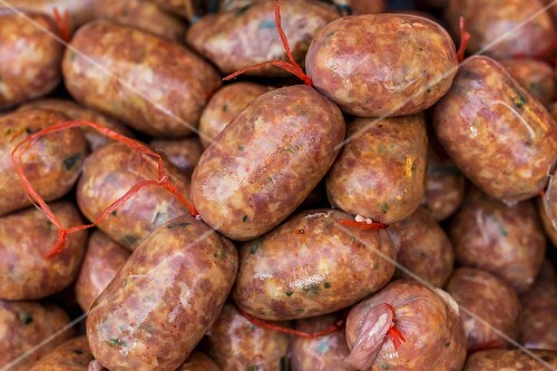 Pork sausages from Vientiane, Laos