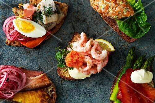Smörgasar (Swedish open sandwiches)