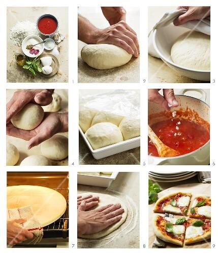Pizza Margherita zubereiten