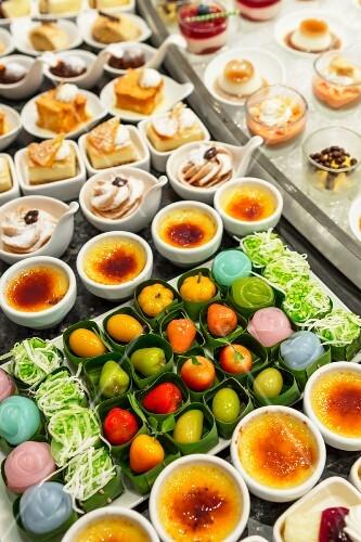 A dessert buffet in a hotel in Bangkok