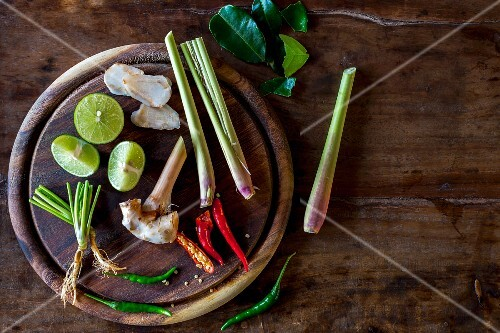 Ingredients for a Thai dish