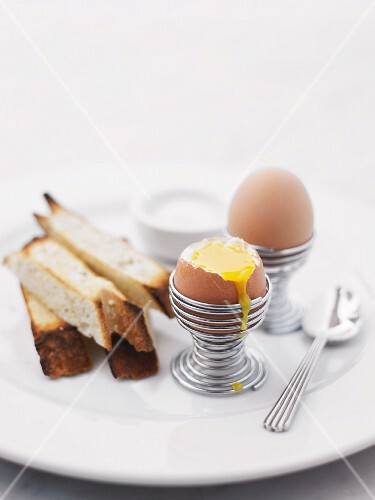 Boiled eggs and soldiers for breakfast