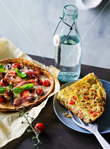 ADHD food: pizza pancake and rice frittata