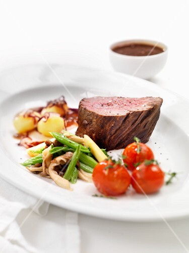 Beef fillet with vegetable accompaniment