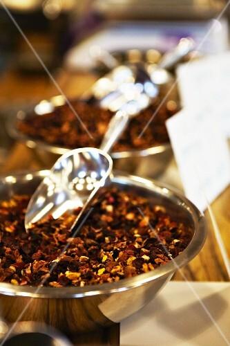 Loose leaf tea at a market
