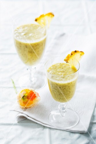 Pineapple and coconut drinks