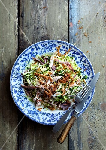 Salad with duck breast