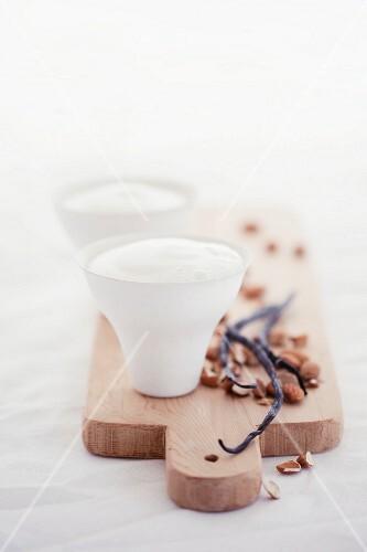 Almond milk with vanilla