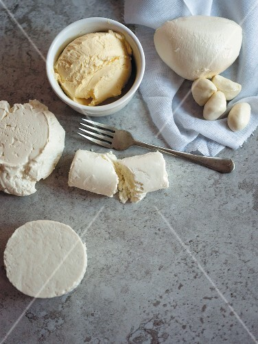 Cream cheese, butter and mozzarella