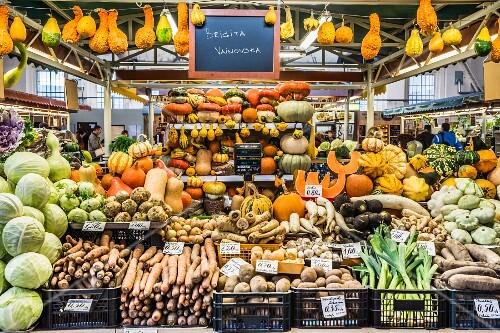 A vegetable market in Riga, Latvia