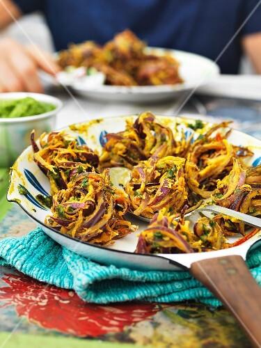 Bhaji (fried onion snacks, India)