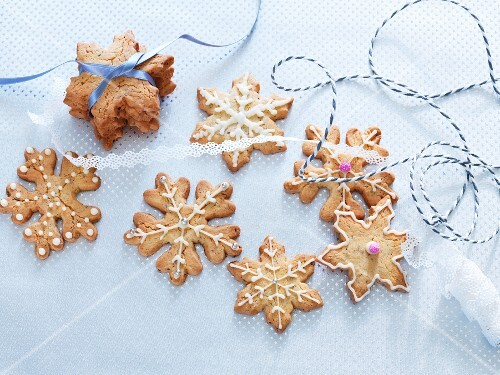 Christmas almond biscuits as a gift
