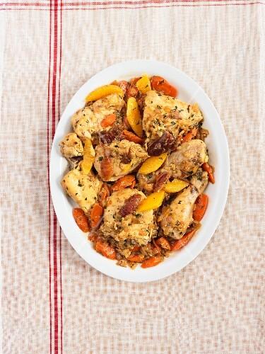 Saffron chicken with dates
