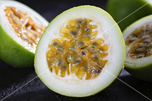 Passion fruits, halved